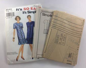 Simplicity Sewing Pattern 8545 Women's Misses Miss Petite Dress Size 6-16