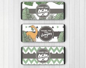 Dinosaur Chocolate Bar Wrappers