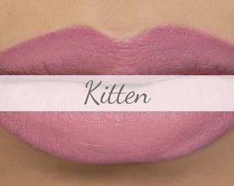 "Vegan Matte Lipstick Sample - ""Kitten"" light pastel pink natural lipstick with organic ingredients"