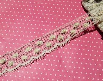 Antique Lace Vintage Lace Cotton Lace Polka Dots Bobble Dots