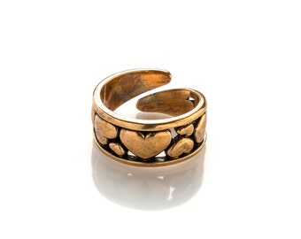 Heart Ring  Small Heart Ring Heart Jewelry Love Jewelry  Ring Love Heart Bronze ring Brass ring Wife gift Love  Girlfriend gift