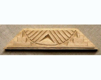 Oshiwa Carved Wood Printing Stamp, African Design, 9.25''x 2.5'', Item 19-10-117