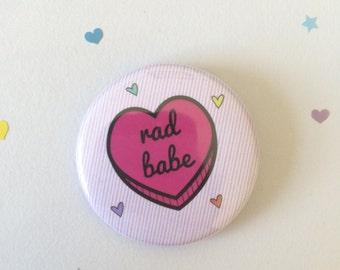 Rad Babe - Sassy Heart 38mm Badge