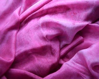 Hand Dyed Silk Belly Dance Veil- Valentine