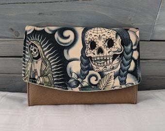 Sugar Skull Contigo Blue Tattoo  Boon Wallet