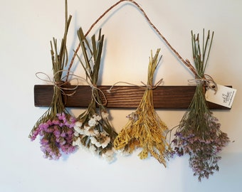 Dried  Flowers Wall hanging. Dried Flowers for Home Décor. Mixed Flower Swag. Dried Flower Rack. Wall Decor.