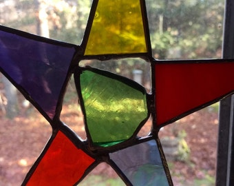 Stained glass star or tree topper