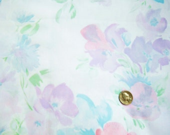 cotton floral print in soft pastel colors  pink mauve blues 2 yards easter  spring