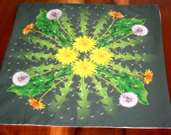 Altar Cloth or Tarot Cloth - Dandelion Cycle - Pagan Altar Cloth - Wiccan Altar Cloth - Wicca - Equinox, Ostara, Eostre - Wheel of the Year