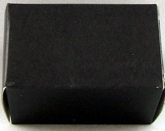 100 Shiny Black Boxes - Tuck Back - Package of 100 - First Quality - BARGAIN - Bulk - Wholesale     (S-012-L)