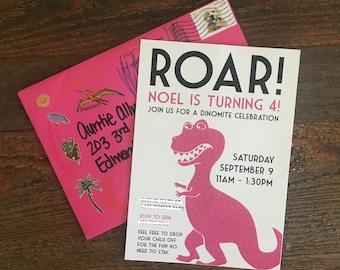 PRINTABLE : Roar! Dinosaur Birthday Party Invitation