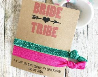 Bride Tribe, Bride Tribe Hair Ties, Hair Ties, Wedding Hair Tie Favors, Bridesmaid, Hair Tie Favors