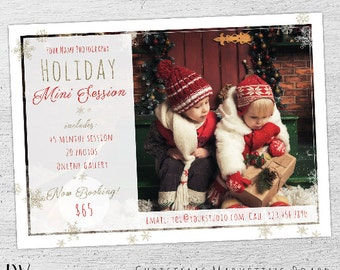 Holiday Mini Session Template, Christmas Mini Template, Christmas Mini Session Template, Chrstmas Marketing, Photoshop Template, Photography