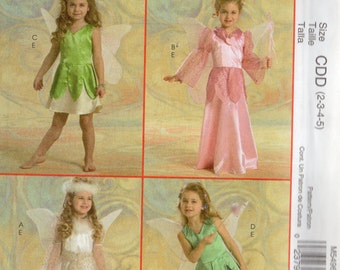 McCall's WINGED FAIRY Costumes Pattern 5496 Girls Sizes 6 7 8