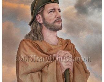 Saint James the Greater Art Print, Catholic Patron Saint #4101