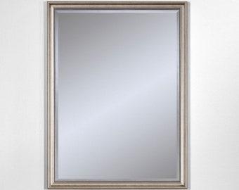 Miroir ANKARA SILVER SMALL Traditionnel Classique Rectangulaire Argenté 54x75 cm
