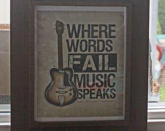 Framed Art Where Words Fail, Music Speaks