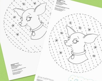 Chihuahua Embroidery Pattern