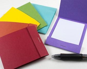 Rainbow Mini Notepads Set – 6 Matchbook Notebooks – Mini Notepad – Mini Notebook Wedding Favor – Mini Notebook for Kids – Matchbook Favor