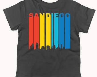 Retro 1970's Style San Diego California Downtown Skyline Infant / Toddler T-Shirt