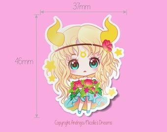 Zodiac Chibis Series - Taurus planner sticker