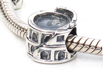 Rome Colosseum Sterling Silver European Beads
