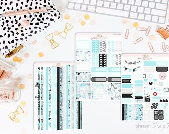 Audrey HORIZONTAL Weekly Kit // 130+ Matte Planner Stickers // Perfect for your Erin Condren Life Planner // WKH0280