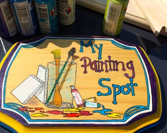 Hand Painted, Wooden Craft Room Signs