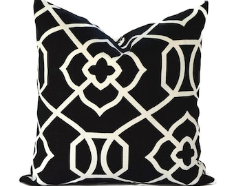 Outdoor Pillows ANY SIZE Outdoor Pillow Covers Outdoor Cushions Euro Floor Pillow Black Pillow Cover Richloom Outdoor Kirkland Black