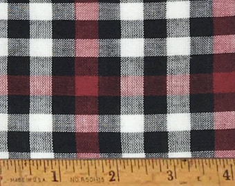 "Mountain Lodge 3 Plaid Homespun Cotton Fabric (Full Yard 36"" x 44"")"