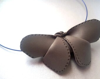 Synthetic leather pendant-origami Butterfly