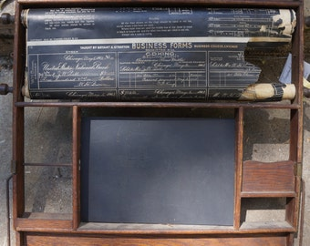 Antique Classroom business form display board 1903