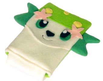 JULY PREORDER 3ds XL Case / Custom Size Pokemon Shaymin pouch carrying case new 3ds / 3ds xl / nintendo switch / psp vita holder cozy