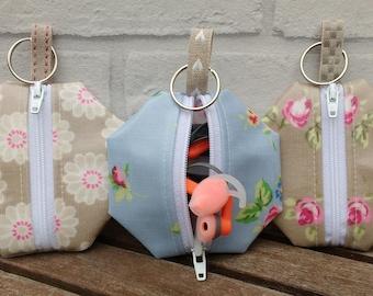 Earphone case, headphone case, zip pouch, oilcloth case, coin purse