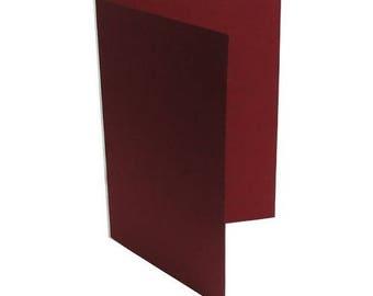 1 x invitation A6 preplie BORDEAUX Red