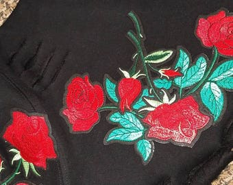 ReMixxxed Cropped Floral Hoodie, Distressed and Destroyed Hoodie