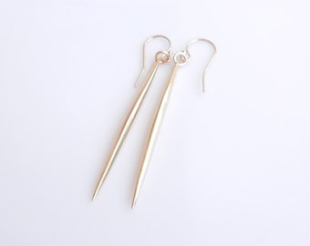 Gold Spike Spear Earrings