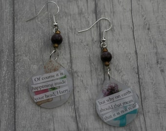 Statement Earrings, Quote Earrings, Inspirational Earrings