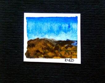 A Tuscany Landscape (No 22) - Original Mini Watercolour on paper