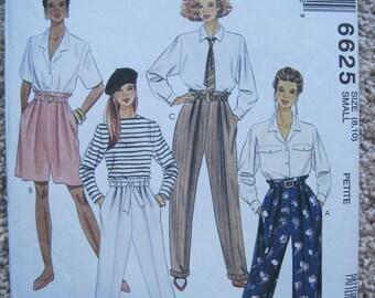 UNCUT Misses Pants, Shorts, Sash and Belt  - McCalls Pattern 6625 - Vintage 1993
