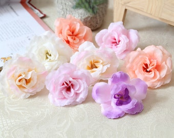 "20 Pcs Artificial Silk Flowers,2.95"",Hair Accessories Flower Supply,For Wedding Pomander Kissing Ball Table Centerpieces(122-21)"