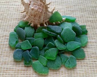 One pound Green sea glass bulk beach glass Surf tumbled glass Beach decor Sea glass art Mosaic Terrarium supply#297#