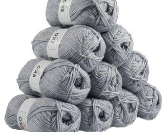 10 x 50g knitted Yarn eko fil, #077 Mouse