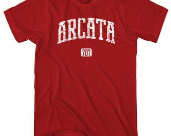 Arcata 707 California T-shirt - Men and Unisex - XS S M L XL 2x 3x 4x - Arcata Shirt - 4 Colors