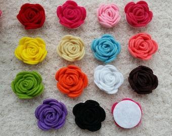 "1.5"" 14 pcs,Diy Headband Supplies, Jessica Collection Felt Rose Flower,Flower, Wholesale,Supply , DIY Flower Headband Supply , FL-15"