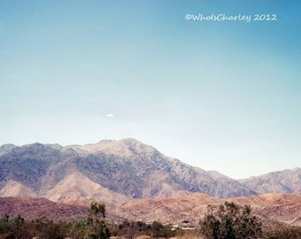 Photography print. LONELY CLOUD. Desert landscape, Anza Borrego Desert, California