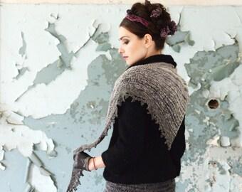 lightweight shawl - soft shawl - mother gift - hand knit shawl - handmade shawl - unique shawl - crochet for sale - soft shawl