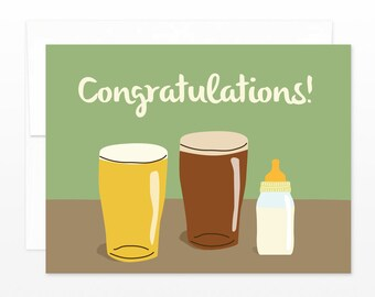 Funny New Baby Congratulations - Beer Lovers New Baby Card