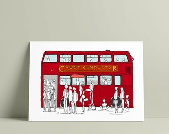 THE CRUST CONDUCTOR, Peckham A5 print