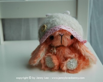 NEW MAMIKO Japanese anime rabbit pattern and kit by Jenny Lee of jennylovesbenny artist bears